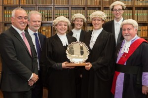 Posing along with the other finalists (& winners) Nottingham Law School