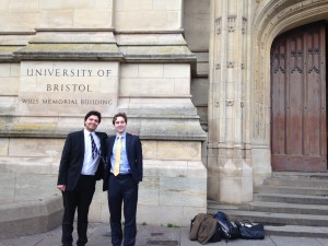 Oliver and David - mooting in Bristol.