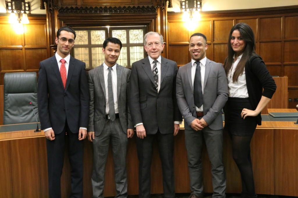 Jamie, Abubakr, Judge Cryan, Jason and Kahroba