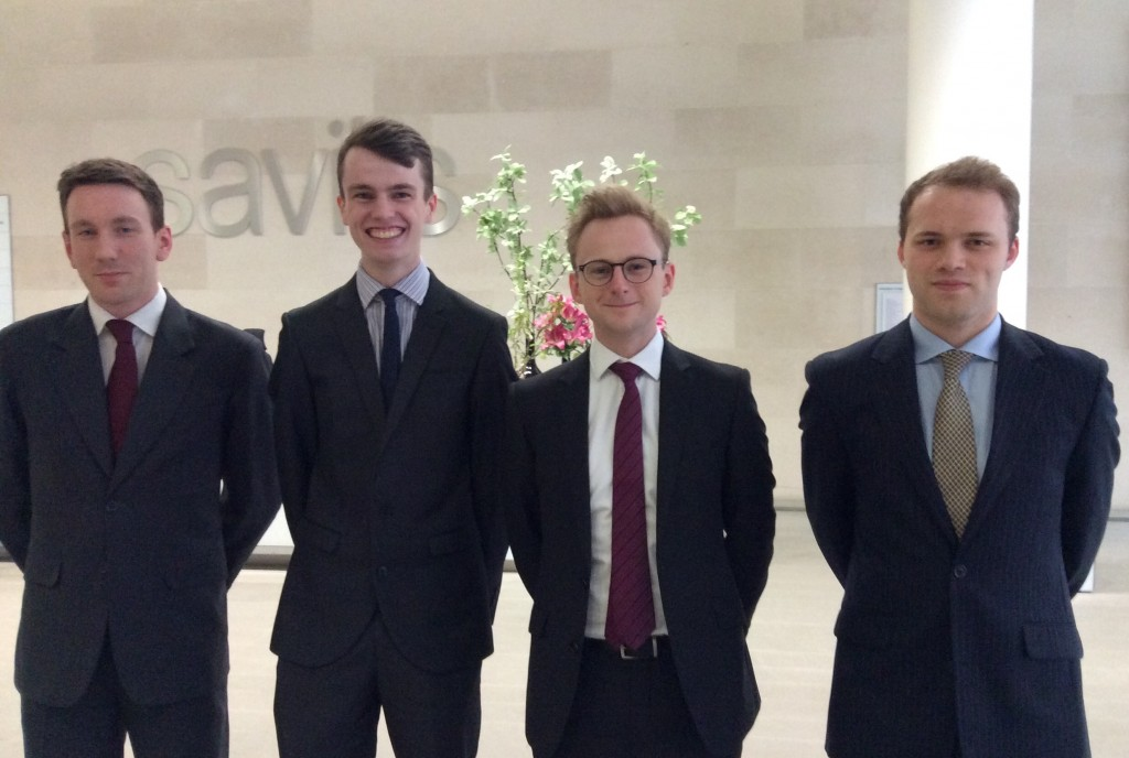 Senior Moot Finalists: Mark, Edward, Sam and Guy