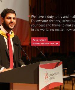 Student Speaker at Graduation Ceremony