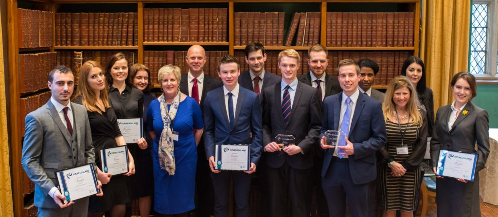 Future Legal Mind Winners 2016 - Tom Phillips (centre front row - blue/red striped tie)